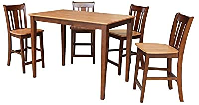 Amazon Com Acme Forbes White Marble Dining Table Walnut Finish Tables