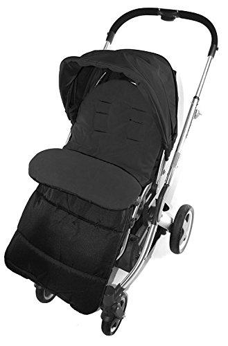 Saco/Cosy Toes Compatible con Huevo silla de paseo Tandem Cochecito Negro Jack