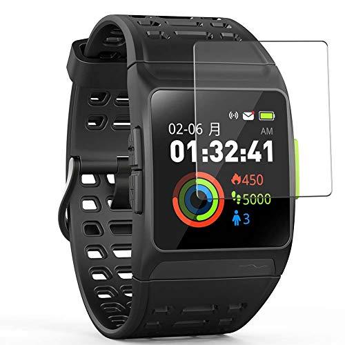 Vaxson 4 Unidades Protector de Pantalla Anti Luz Azul, compatible con iWOWNfit P1 GPS Running watch [No Vidrio Templado] TPU Película Protectora