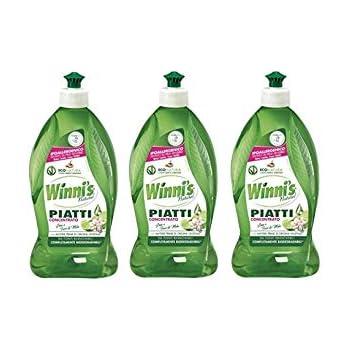 3x Winni's Naturel Detergente Piatti Concentrato Lime - 500 ml