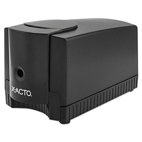 X-ACTO Products - X-ACTO - Deluxe Heavy-Duty Desktop Electric Pencil Sharpener, Black/Gray -