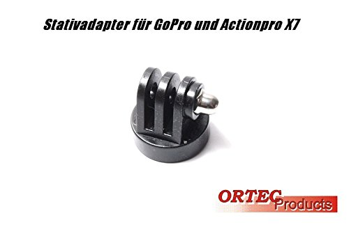 Ortec Tripod Adapter Mini Stativadapter für Actionpro X7, ISAW Extreme, GoPro Hero (kein GoPro Artikel)