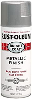 Rust-Oleum Stops Rust Bright Coat Spray 7715830-6 PK Metallic Color 11 Oz, Aluminum, 6 Pack, Aluminium