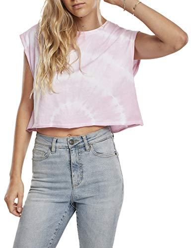 Urban Classics Ladies Short Tie Dye tee Camiseta, Rosa Chic, S para Mujer