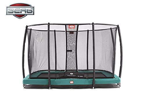 Berg InGround Eazyfit Trampoline + Safety Net Deluxe Rectangular- Green