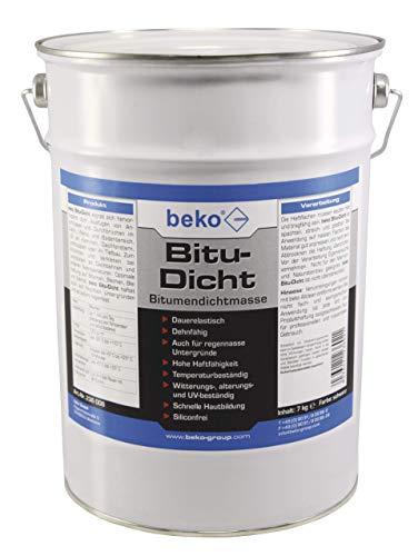 Beko Bitu-Dicht Masse d'étanchéité bitume Noir 6kg noir
