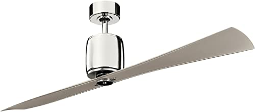 high quality Kichler wholesale 300160PN sale 60-Inch Ferron Fan, Polished Nickel outlet online sale
