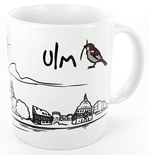 die stadtmeister Keramiktasse weiß Skyline ULM