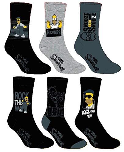 Herren Socken Simpsons Komfort & Fantasie aus Baumwolle – verschiedene Modelle, Fotos je nach Verfügbarkeit Gr. One size, 3er-Pack Asst1