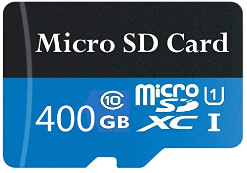 Tarjeta Micro SD de 400 GB, clase 10 SDXC de alta velocidad con adaptador SD gratuito, diseñada para teléfonos inteligentes Android, tabletas y otros dispositivos compatibles (400 GB-A)