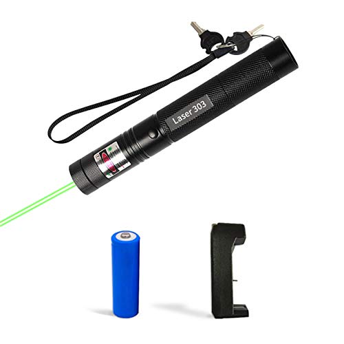 RUIJILIAN Tactical Green Flashlight High Power Beam Adjustable Focus Green Light with Visible Torch Ligh for Hunting Hiking Outdoor Projector Travel Outdoor cat and Dog Interactive Toys