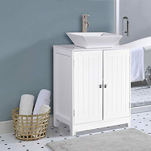 MTFY Bathroom Sink Cabinet,Bathroom Vanity with 2 Doors Traditional Bathroom Cabinet Space Saver Organizer