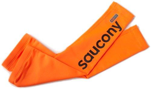 Saucony Drylete Arm Warmers (Vizipro Orange, Medium)