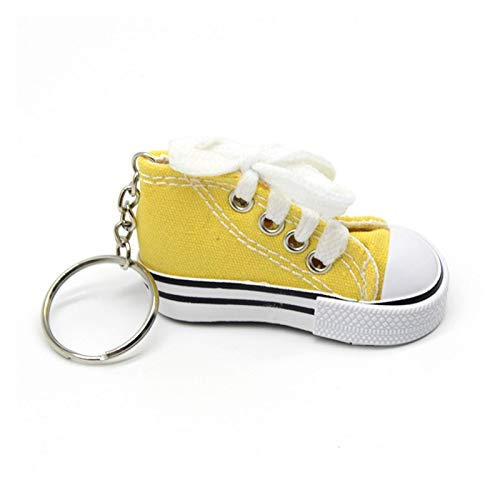 ZZXINZHU Keychains Key Ring Canvas Shoes Keychain Bag Charm Woman Men Kids Key Holder Gift Sports white Sneaker Key Chain Funny Gifts Cartoons (Color : D)