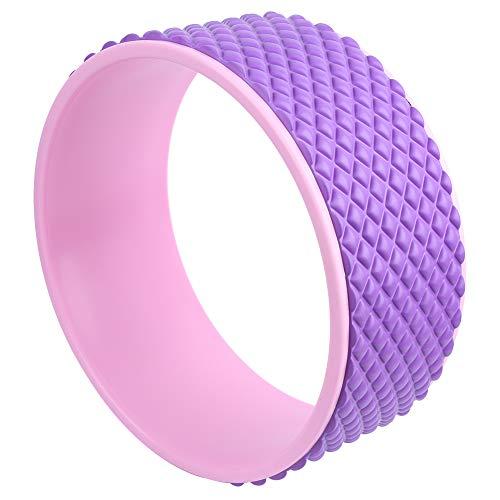 RiToEasysports Rueda de Yoga Antideslizante Cómodo, Suave, tóxico, insípido, Rodillo de Yoga para Estirar la Espalda, Cuerpo Relajante (Rosa + Rosa roja)