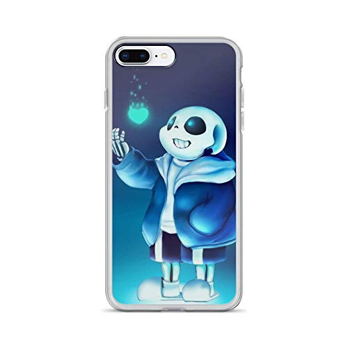 Beamm-Frost Compatible with iPhone 7 Plus/8 Plus Case Undertale Frisk Role Play American Indie Game Pure Clear Phone Cases Cover