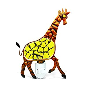 Puzzled Giraffe Night Light, 5 Inch Plug in Decorative Socket Lamp Manual On & Off Portable Lights for Stairway, Bedroom & Bathroom Wildlife Themed Accessory Home & Kitchen Decor