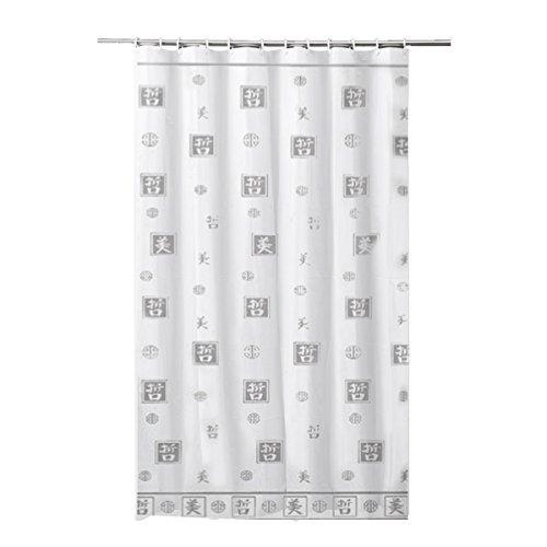Carpemodo Frandis Duschvorhang, Polyester, 180x200 cm grau