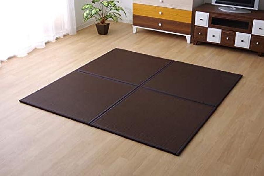 フォーカス荒れ地暫定のポリプロピレン 置き畳 ユニット畳 水拭きできる「 スカッシュ(6枚組) 」約82×82cmブラウン(#8611230) システム畳 畳 正方形 半畳