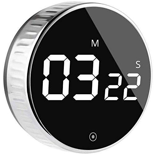 Kitchen Digital Timer, Egg Timer Magnetic Count Down or Up Timer 99 Minute Big Digits Loud Alarm, Simple Operation Suitable for Kids and The Elderly, for Cooking, Fitness, Studying-Black