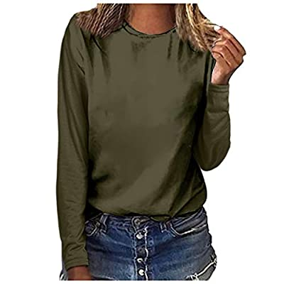 LONGDAY Sunflower Print Long Sleeve Crew Ne Fit Casual Sweatshirtr Shirts Loose Tunic Blouse
