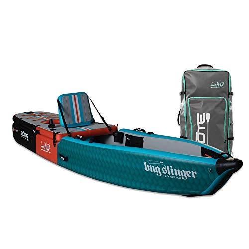 BOTE Lono Aero Inflatable Kayak & Stand Up Paddle Board | Kayak for Fishing & Recreation (Bug Slinger Tarpon)