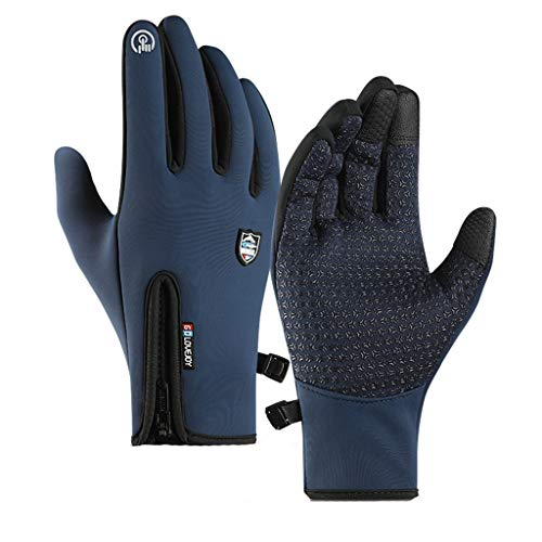 YU.Dafe Winter Gloves for Men and Women,Upgraded Touch Screen Anti-Slip Gloves Windproof Waterproof Cold Weather Warm Workout Gloves