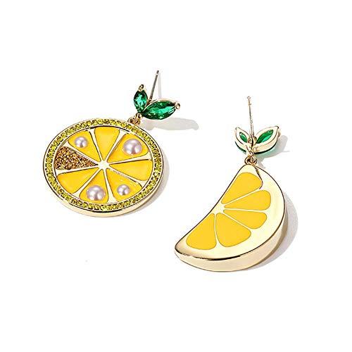 Pendientes colgantes con forma de gota de limón Pendientes hipoalergénicos de diseño único y moderno Pendientes ligeros y fáciles de usar para mujer