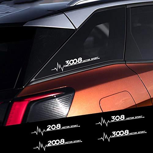HLLebw Auto Seitenstreifen Seitenaufkleber Aufkleber, 30cm Car Vinyl Decal Side Window Sticker für Peugeot 206 307 308 407 207 3008 208 508 2008 301 408 607 4008 5008