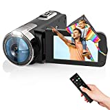 Video Camera Camcorder 2021 New Upgraded 1080P FHD 16X Zoom Digital Camera Recorder for YouTube 3.0 Inch Touch Screen Vlogging Camera with Remote Control and Battery