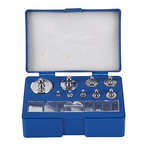 Poids de calibrage, 17 Poids de calibrage 13 Spécifications différentes Poids de précision Gramme de calibrage, avec Pince à épiler et boîte de Rangement, pour Balance Gram Scale