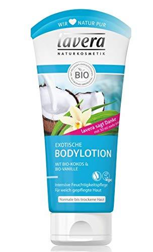 Lavera Bodylotion exotisch Bio-Kokos & Bio-Vanille 3er Vorteilspack (3 x 200ml)