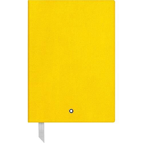 Montblanc 116519 - Cuaderno #146 Fine Stationery – Diario de piel con páginas de líneas – Bloc para apuntes A5 – 150 x 210 mm, 192 páginas, tapa color amarillo
