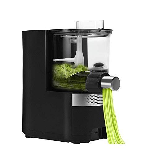 CENPEN Zarte Pasta Maker Nudelhersteller Vollautomatische intelligente Wasserfüllung Multifunktionsnudel-Nudel-Presse Haushalt elektrisch (Farbe: Schwarz, Größe: 18.5x28x34cm)
