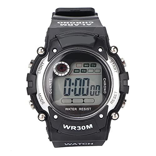 Fournyaa Reloj Deportivo para Exteriores, Reloj Deportivo Digital con Hora Dual, Múltiples Funciones para Uso Diario