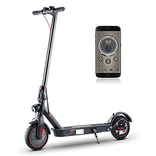 isinwheel i9 Pro E Scooter - Application Control, 350W Motor, 30km Langstrecken Elektro Scooter, Höchstgeschwindigkeit bis 30 km/h, Vollgummireifen 8,5 Zoll Elektroroller (NOT mit straßenzulassung)