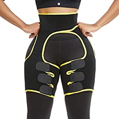 HIGH-QUALITY FABRIC : 80% neoprene and 20% nylon, keep the temperature, accelerate sweating and perspiration, breathable and comfortable, give you the ultimate sports and fitness experience. UNIQUE DESIGN : Neoprene material accelerates sweating, Wai...