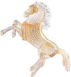 YourMurano, Escultura de caballo de cristal de Murano, estatua de oro para decoración del hogar, gran figura de caballo, marca de origen, Donerail