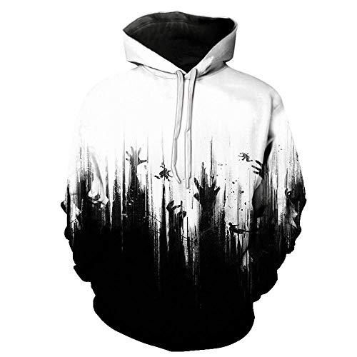 Hooded Sweatshirts Cute Cartoon Hoodies Pullover TopsUniforme de béisbol con Estampado Digital de calaveras-LMWY1524_XXXL