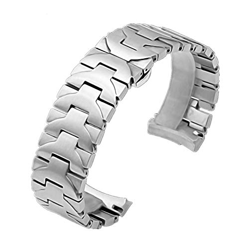 Nywing 時計ベルト パネライ 24mm Panerai パネライPPAM441 111対応 ステンレス 時計バンド Panerai LUMINOR MARINA 腕時計ベルト 時計ベルトフィッシュ Dバックル尾錠付き 金属 42mm ケース シルバー