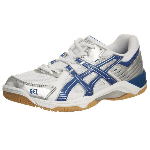 Asics - Zapatillas para Deportes de Interior de Cuero Nobuck para Hombre Blanco Blanco, Color Blanco, Talla 46
