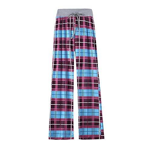 Pantalones De Pierna Ancha Casuales para Mujer Estampado De Leopardo Pantalones De Pierna Recta EláSticos CóModos Y Casuales con CordóN