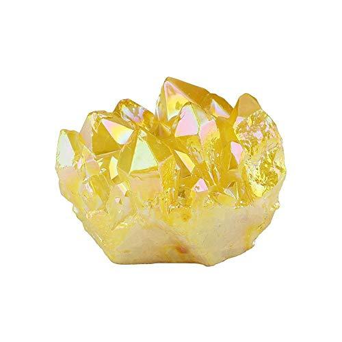 1 Pieza de Cristal de Citrino Amarillo Natural, racimo de Cuarzo, espécimen...