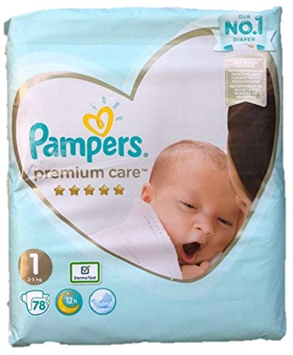 NEU 78 PAMPERS PREMIUM CARE WINDELN GR. 1, 2-5 KG, NEW BABY, NEWBORN