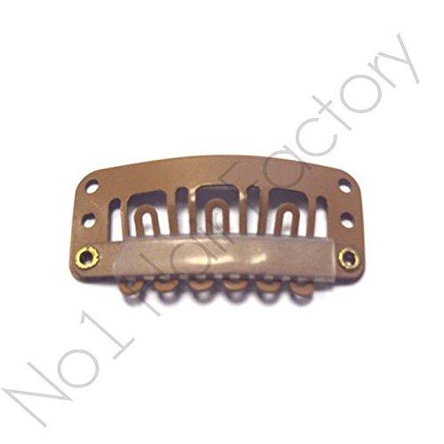 X 50 perruque extension de cheveux à clips pour extensions capillaires Marron 28 mm/2,8 cm