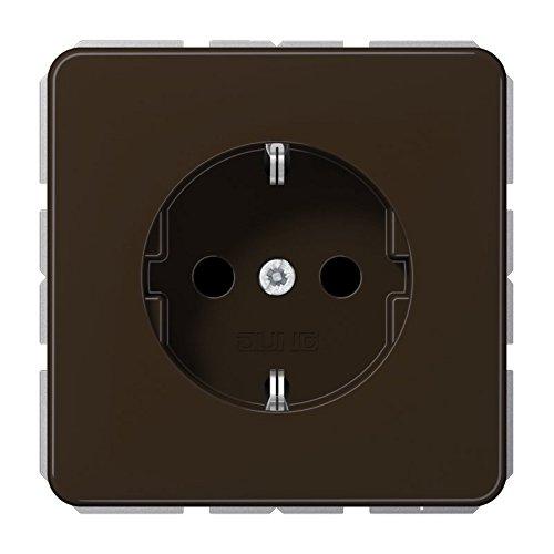 Jung SchukoSteckdose 16A250V Serie CD Braun, 1 Stück, CD 1520 BR