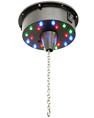 OmniaLaser OL-LEDBM1 Battery Operated Mirror Ball Motor with Multi-Color LED Lighting, Fade or Static
