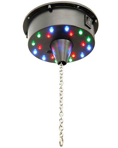 OmniaLaser ol-ledbm1Motor für Spiegelkugel batteriebetrieben mit Beleuchtung LED Mehrfarbig, ausblenden oder statisch