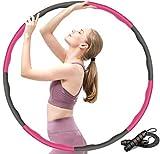 Photo Gallery newlemo hoola hoop per adulti, hula hoop pesato fitness con corda per saltare - larghezza regolabile a 8 sezioni 72-83-95 cm, adatto per fitness, sport e modellamento addominale