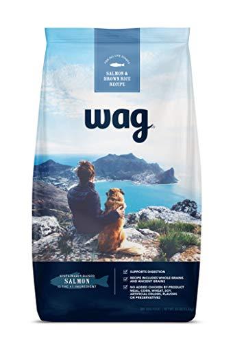 Amazon Brand – Wag Dry Dog Food, Salmon and Brown Rice, 30 lb Bag